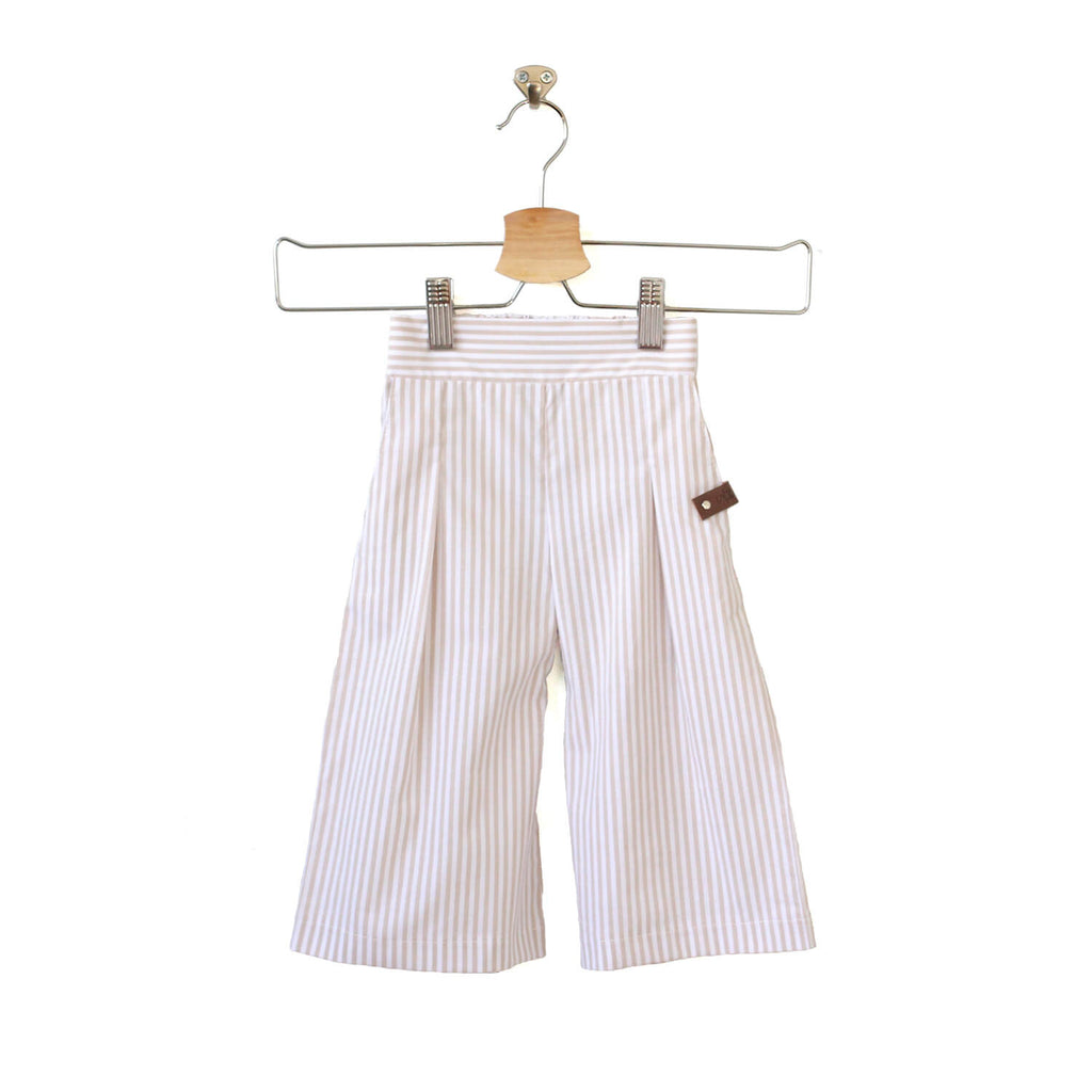 Sailor Pants - Beige Stripe
