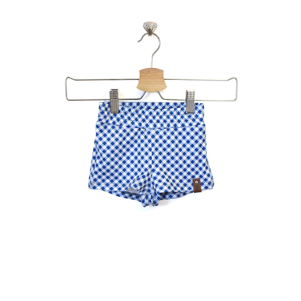 Sage Shorts - Blue Gingham