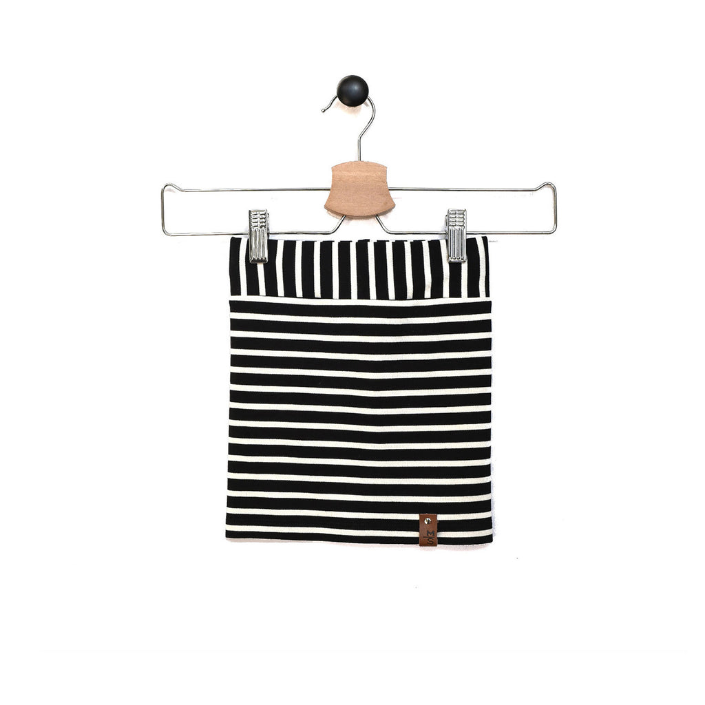 Sienna Pencil Skirt - Black Stripe