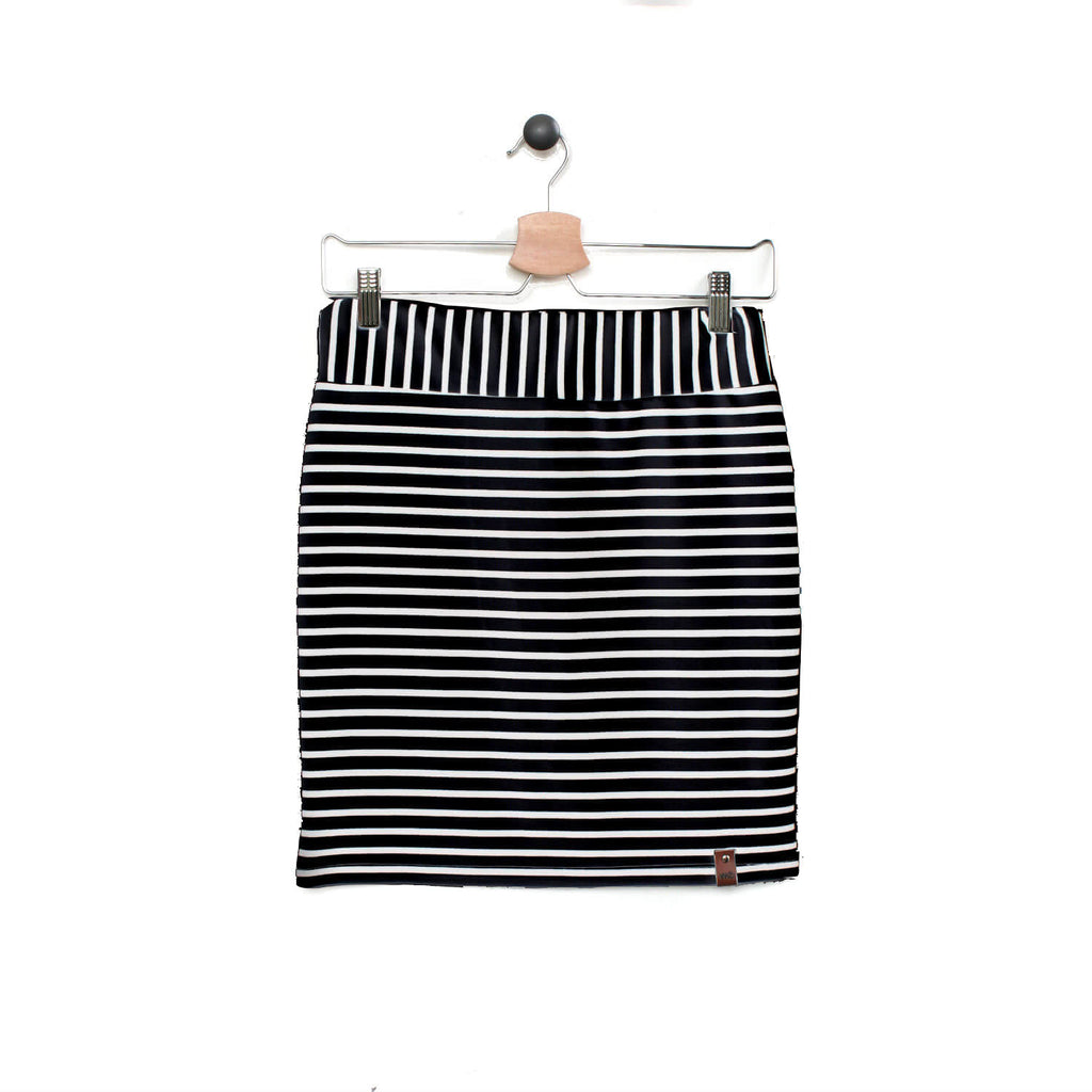 Sienna Women's Pencil Skirt - Black Stripe