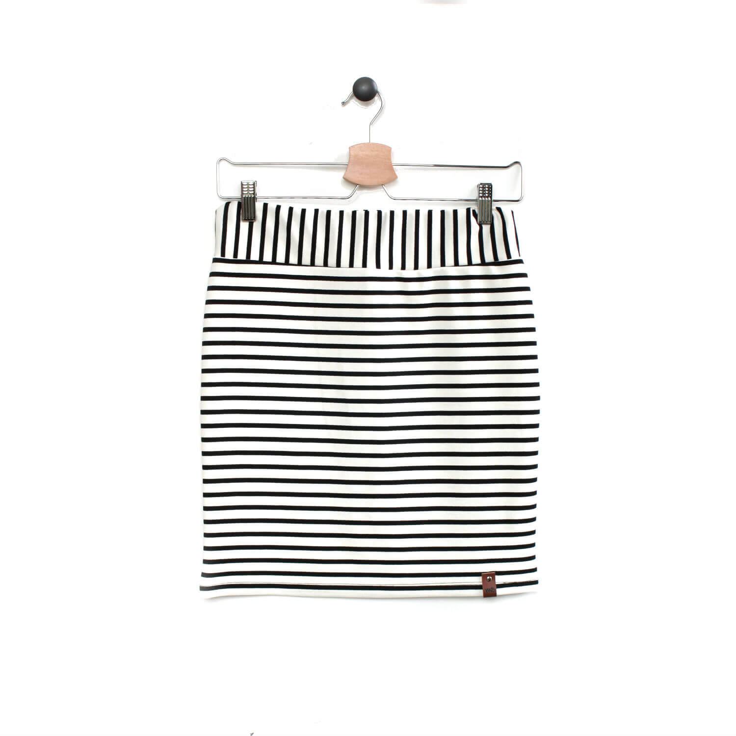 Sienna Women's Pencil Skirt - White Stripe