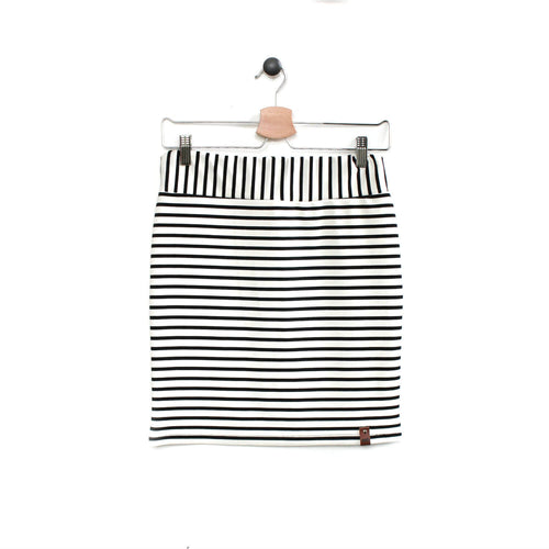 Sienna Woman Pencil Skirt - White Stripe