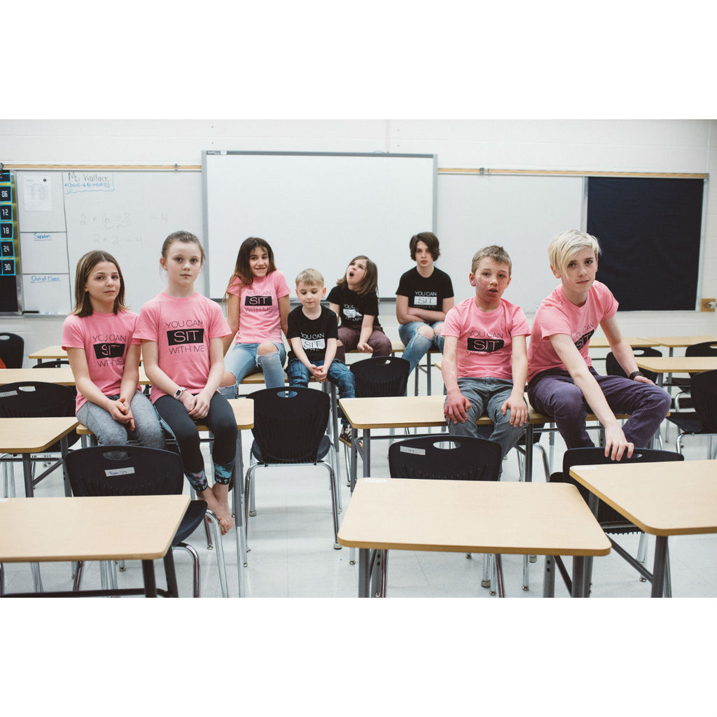 Tee - Sit With Me - #Pinkshirtday Edition - Adult