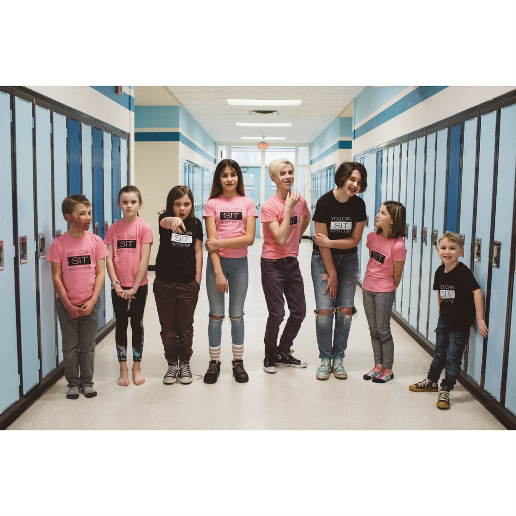 Tee - Sit With Me - #Pinkshirtday Fundraiser - Kids