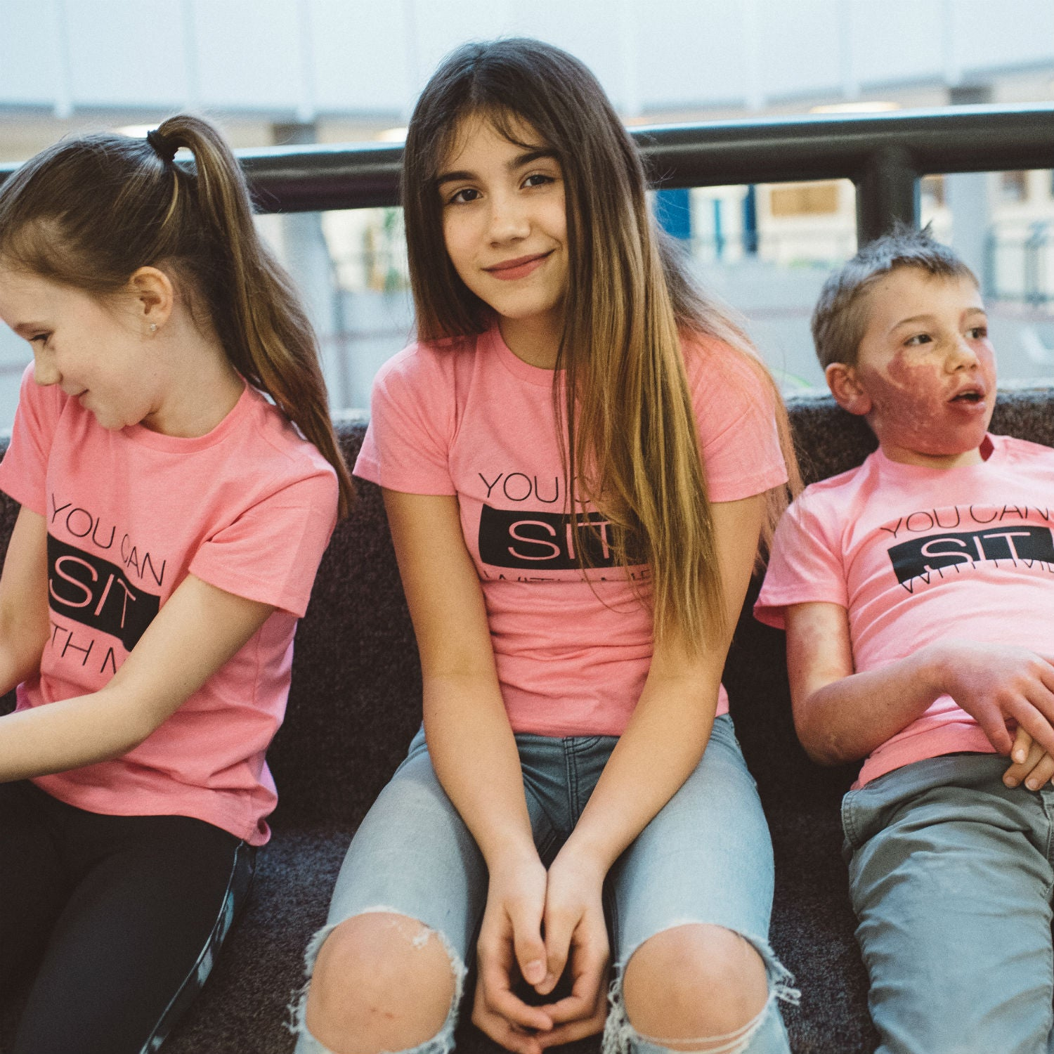 Tee - Sit With Me - #Pinkshirtday Edition - Adult + Kids