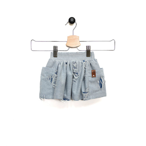 Jules Skort - Distress Denim