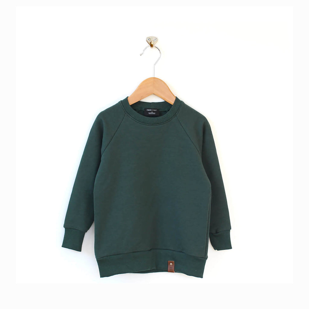 Jaxon Crew Sweater - Hunter Green