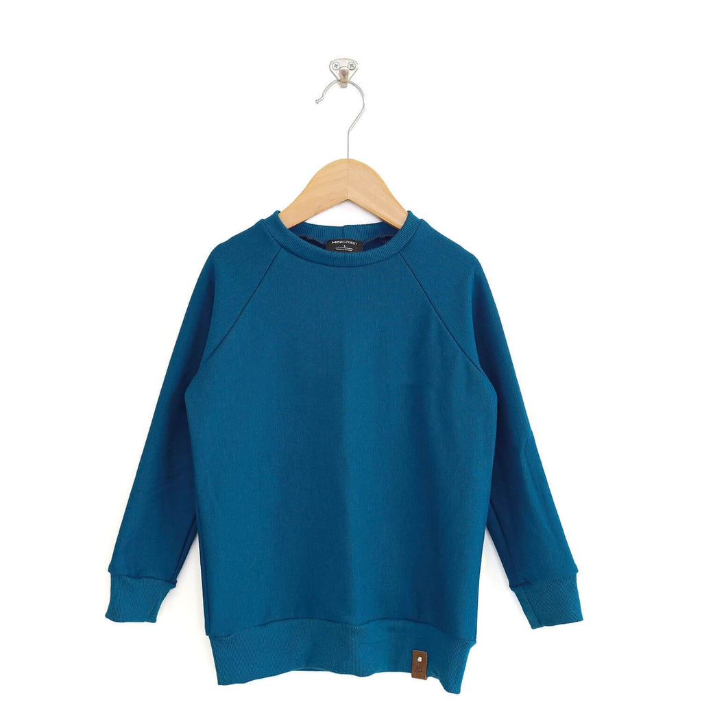 Jaxon Crew Sweater - Peacock Blue