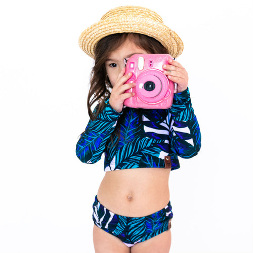 Hadley Rash Swim Top - Blue Tropix