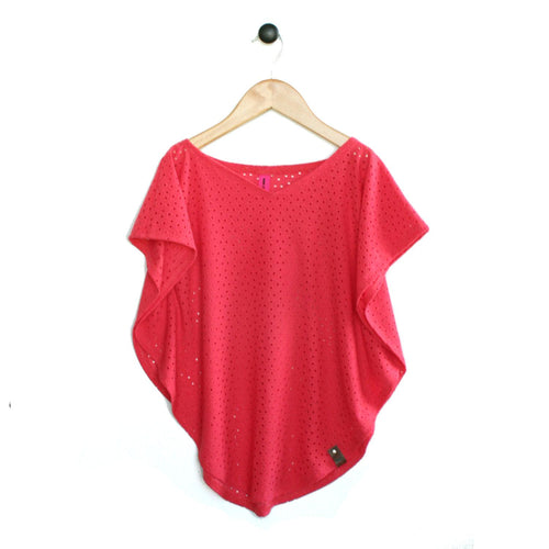 Modern swimsuit cover up in Coral colour for trendy girls by Mini Street