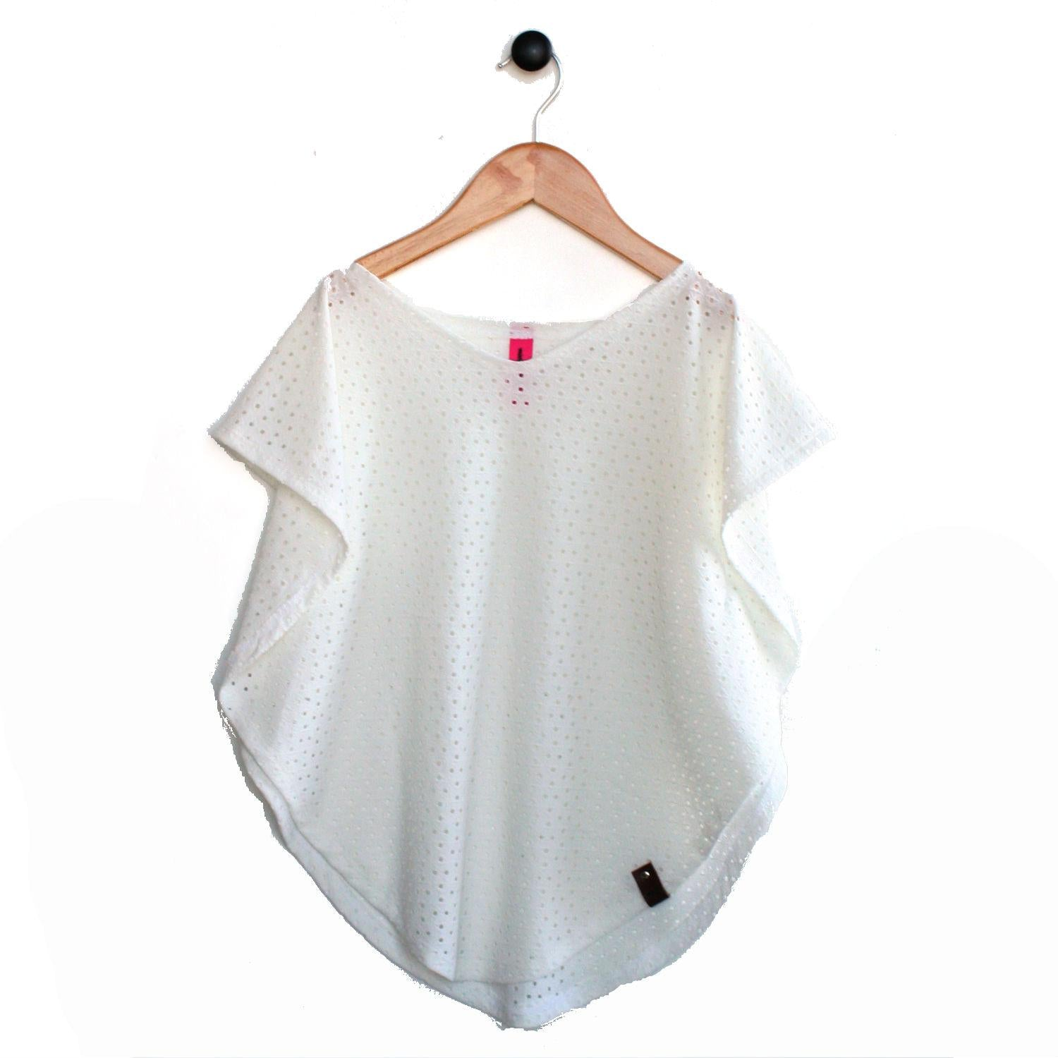Modern swimsuit cover up in white colour for trendy girls by Mini Street