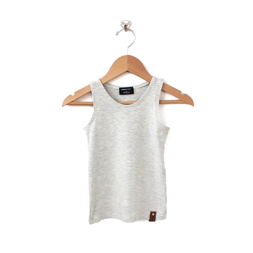 Mia Fitted Tank - Light Grey