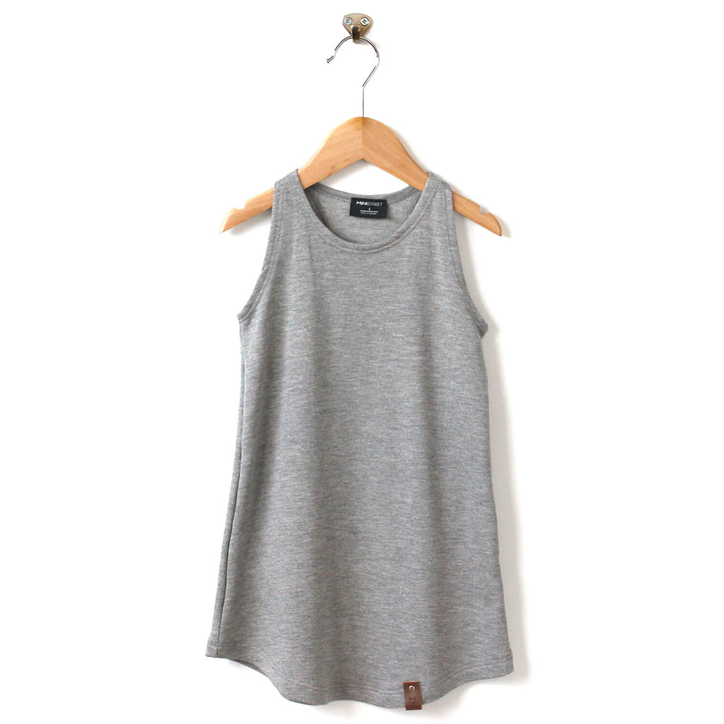 Brooke Racerback Tank Dress - Grey