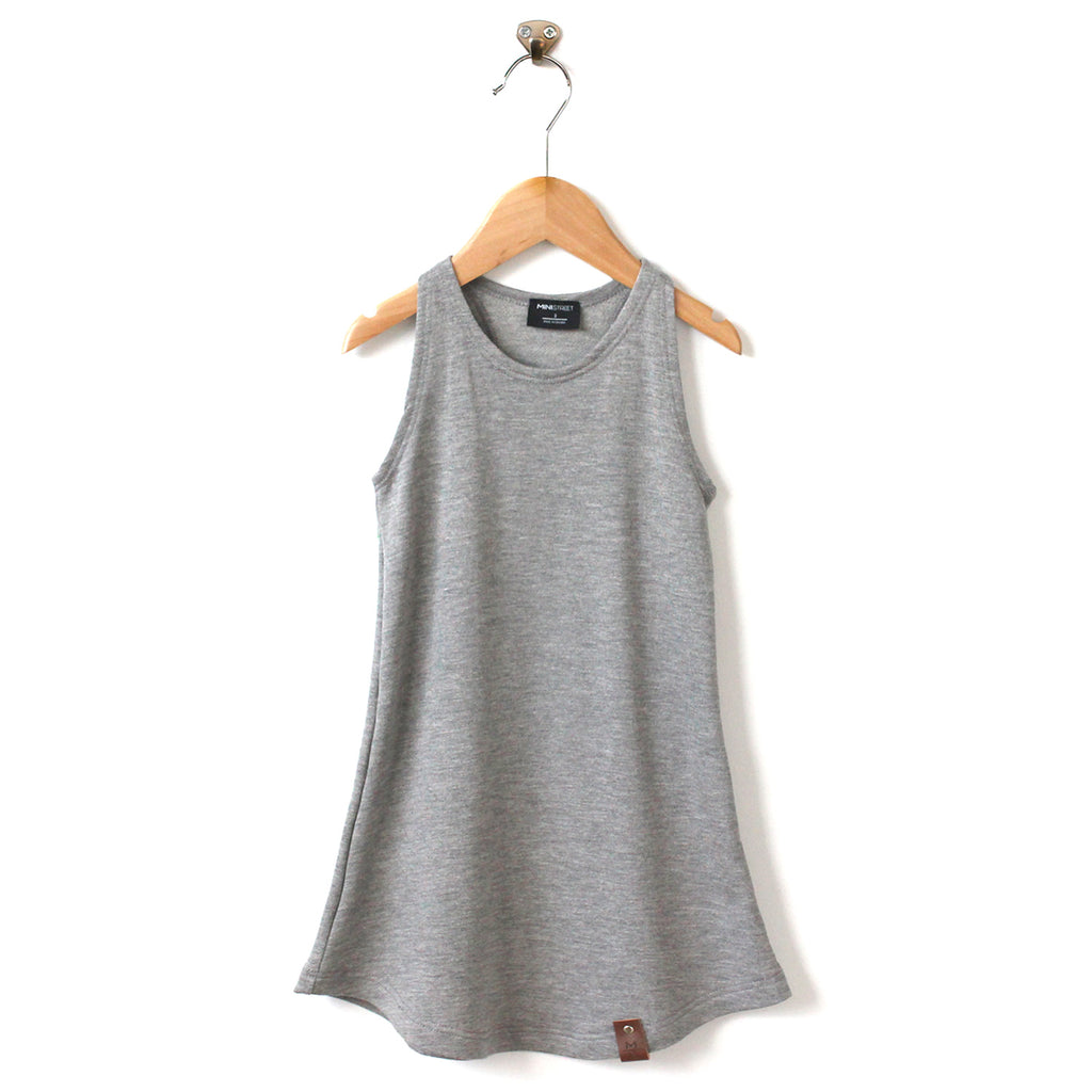 Brooke Women's Racerback Tank Dress - Heather Grey