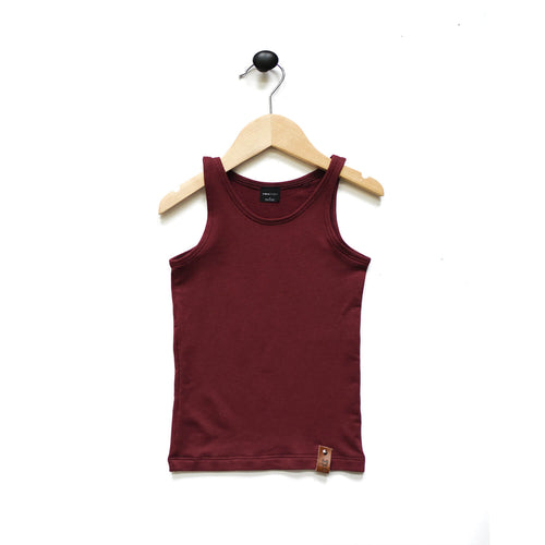 Mia Fitted Tank - Maroon
