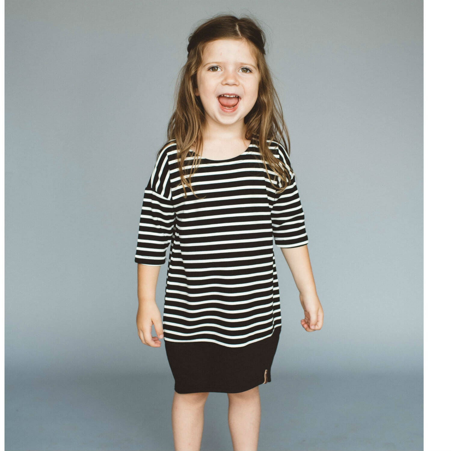 Taylor Dress - Black Stripe