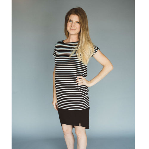 Taylor Woman Dress - Black Stripe