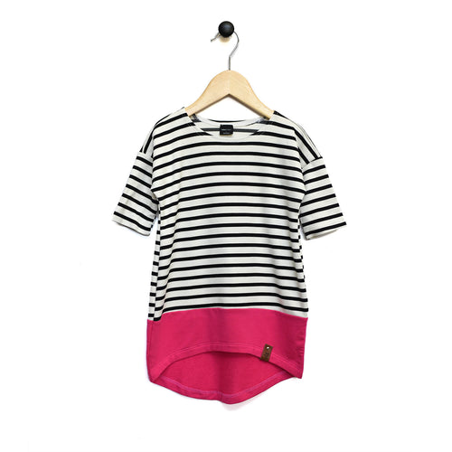 Taylor Dress - Fushia Stripe