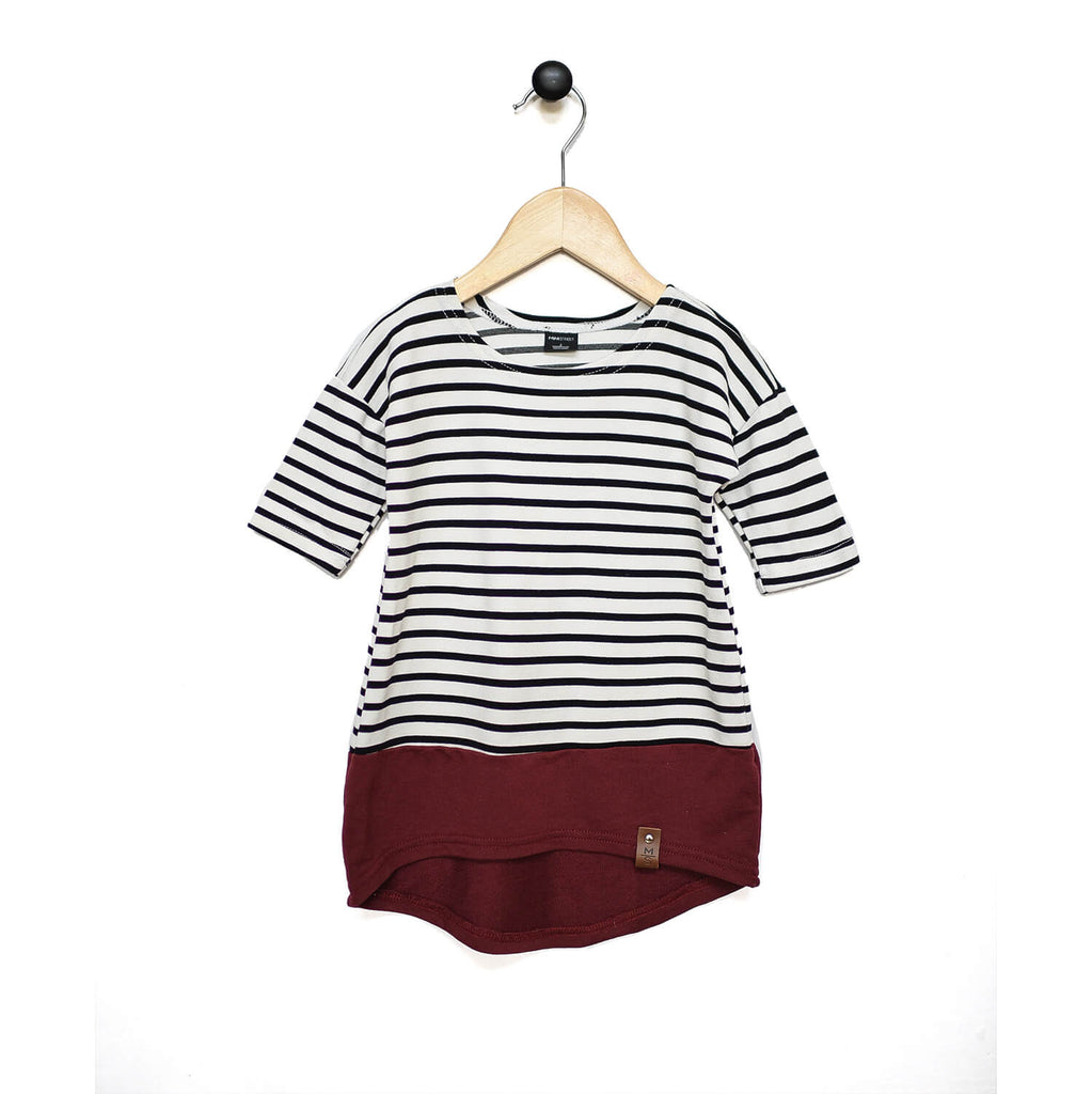 Taylor Dress - Maroon Stripe