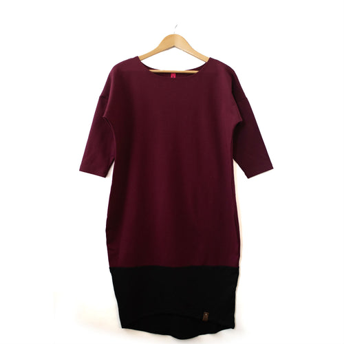 Taylor Woman Dress - Maroon