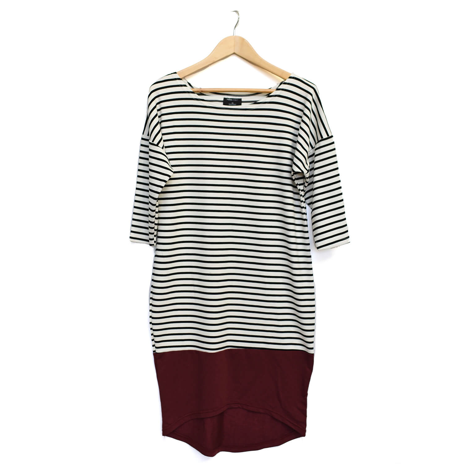 Taylor Women's Dress - Maroon Stripe