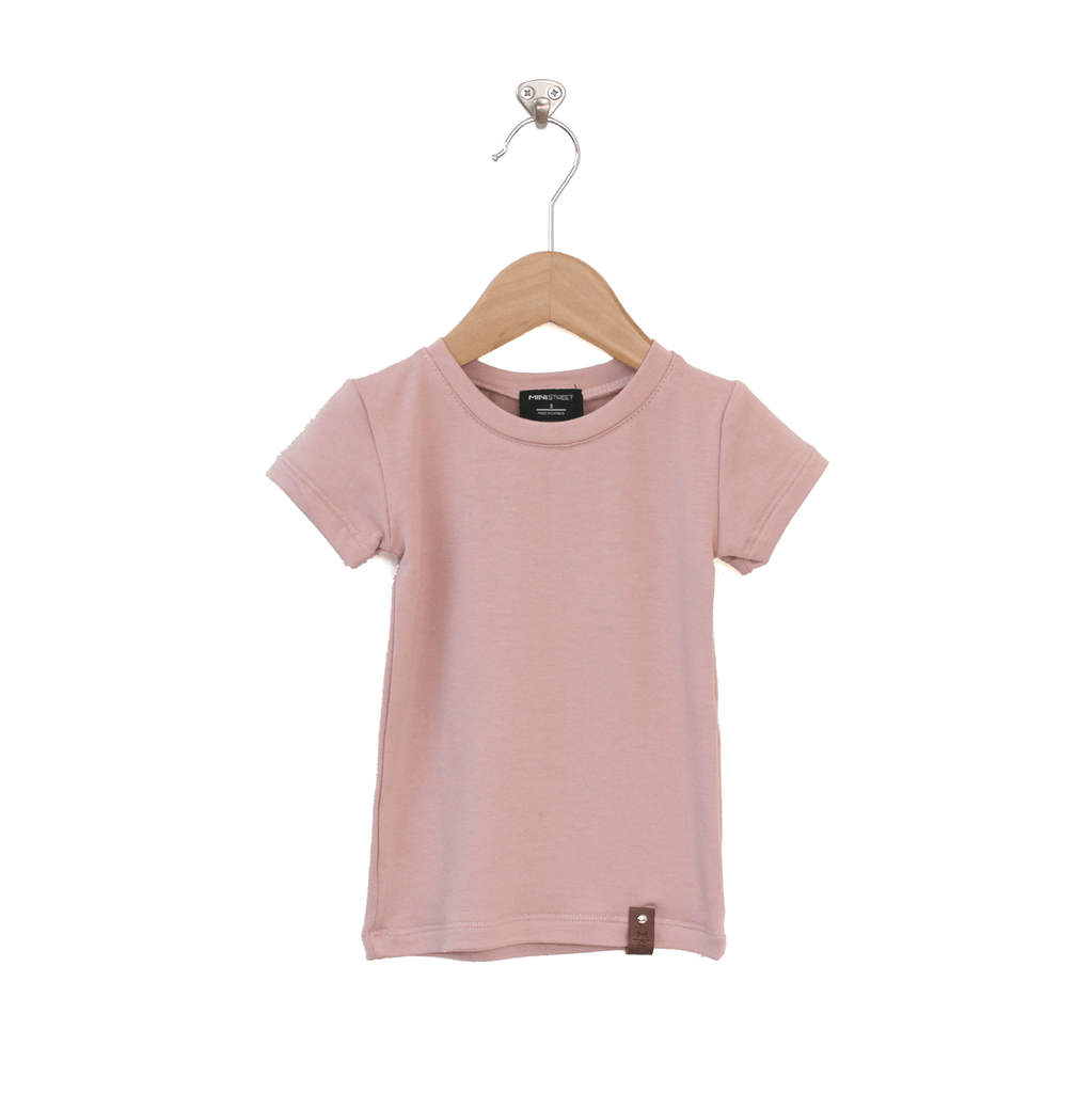 Mae Fitted Tee - Blush Pink