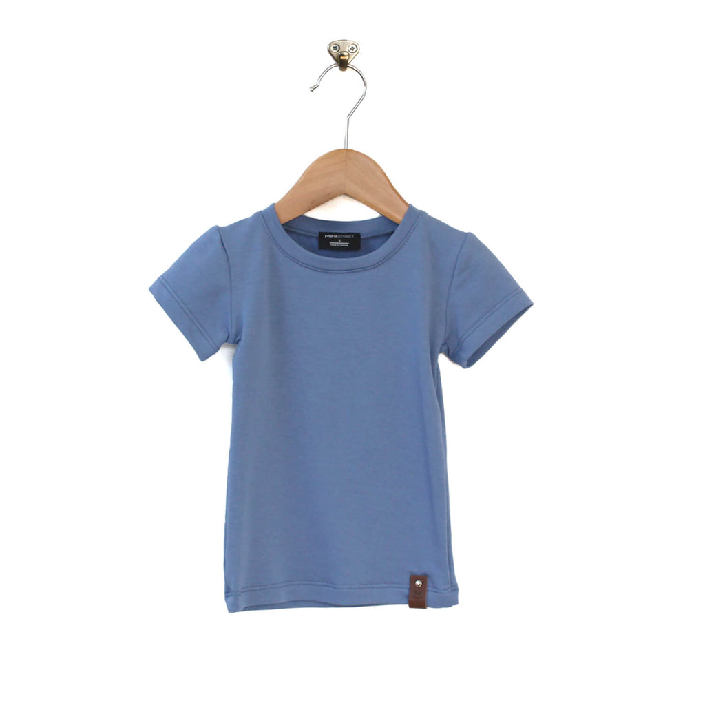 Mae Fitted Tee - Slate Blue