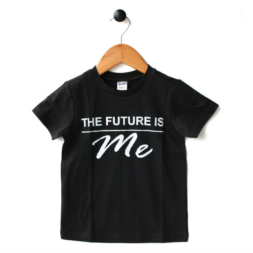 Future is Me tee for kids by Mini Street in black or white'