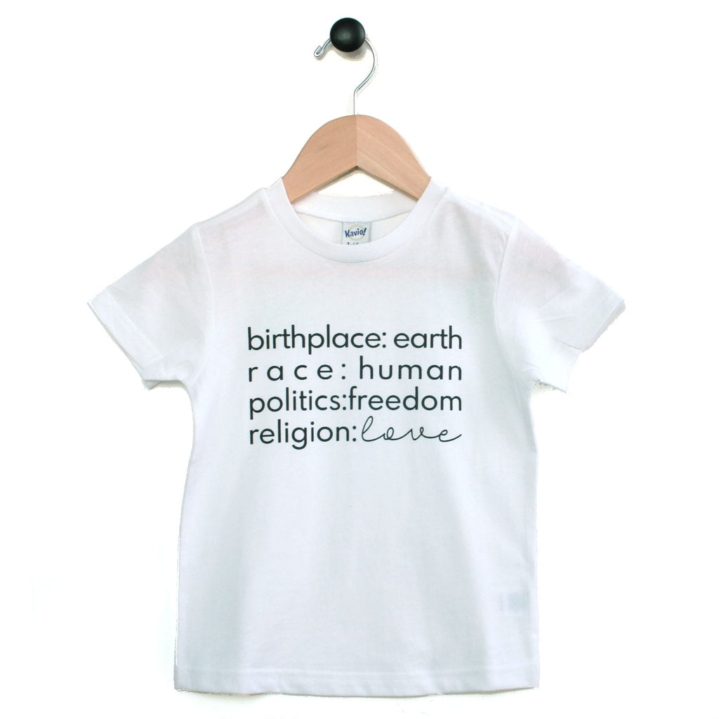Tee - Birthplace Love - Multi colours