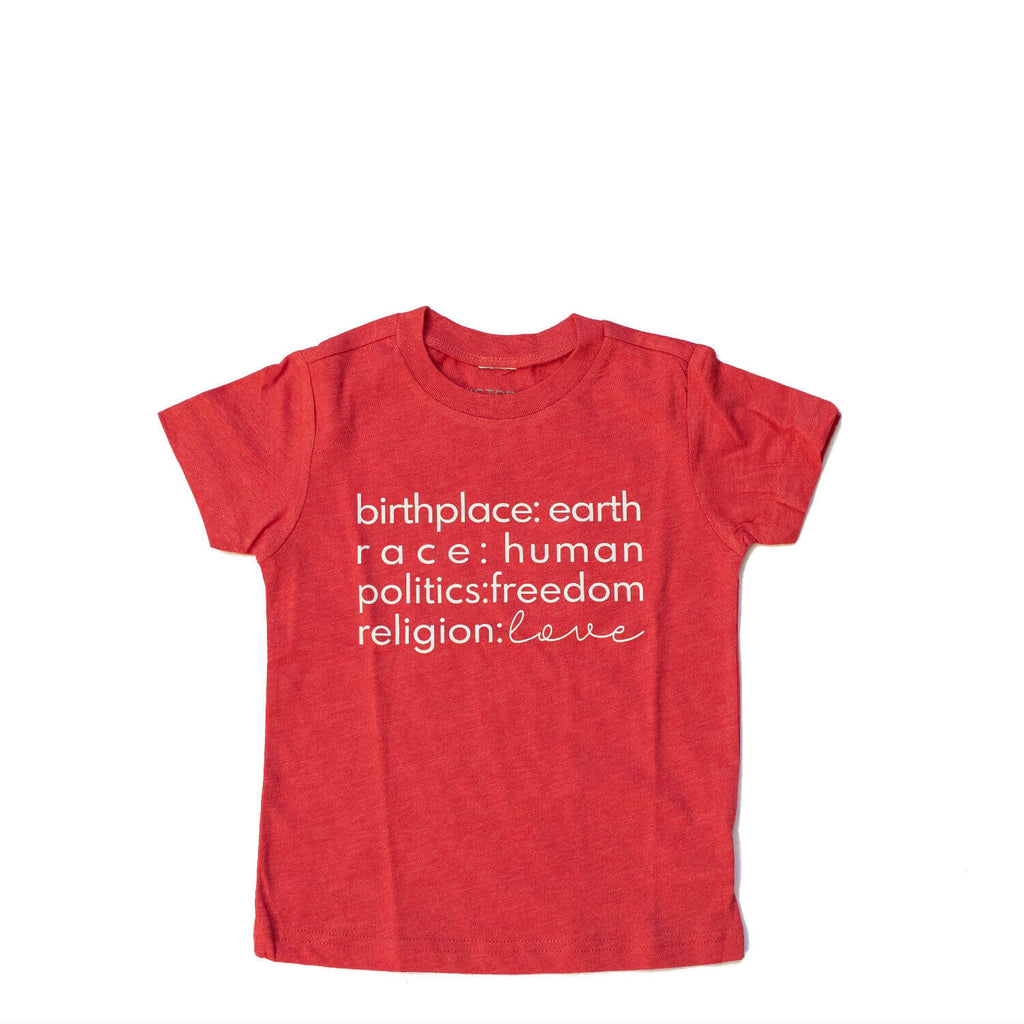 "Tee - Birthplace Love - Red ""Limited Edition"""