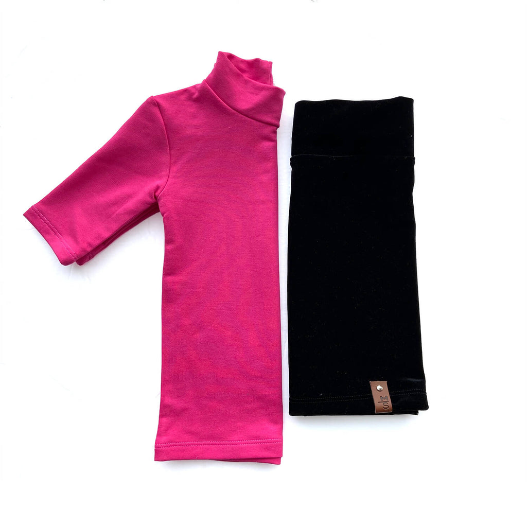 Marin Mock Fitted Tee - Hot Pink