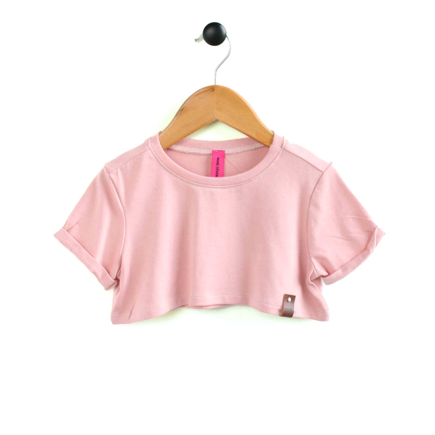 Blake Crop Top - Blush Pink