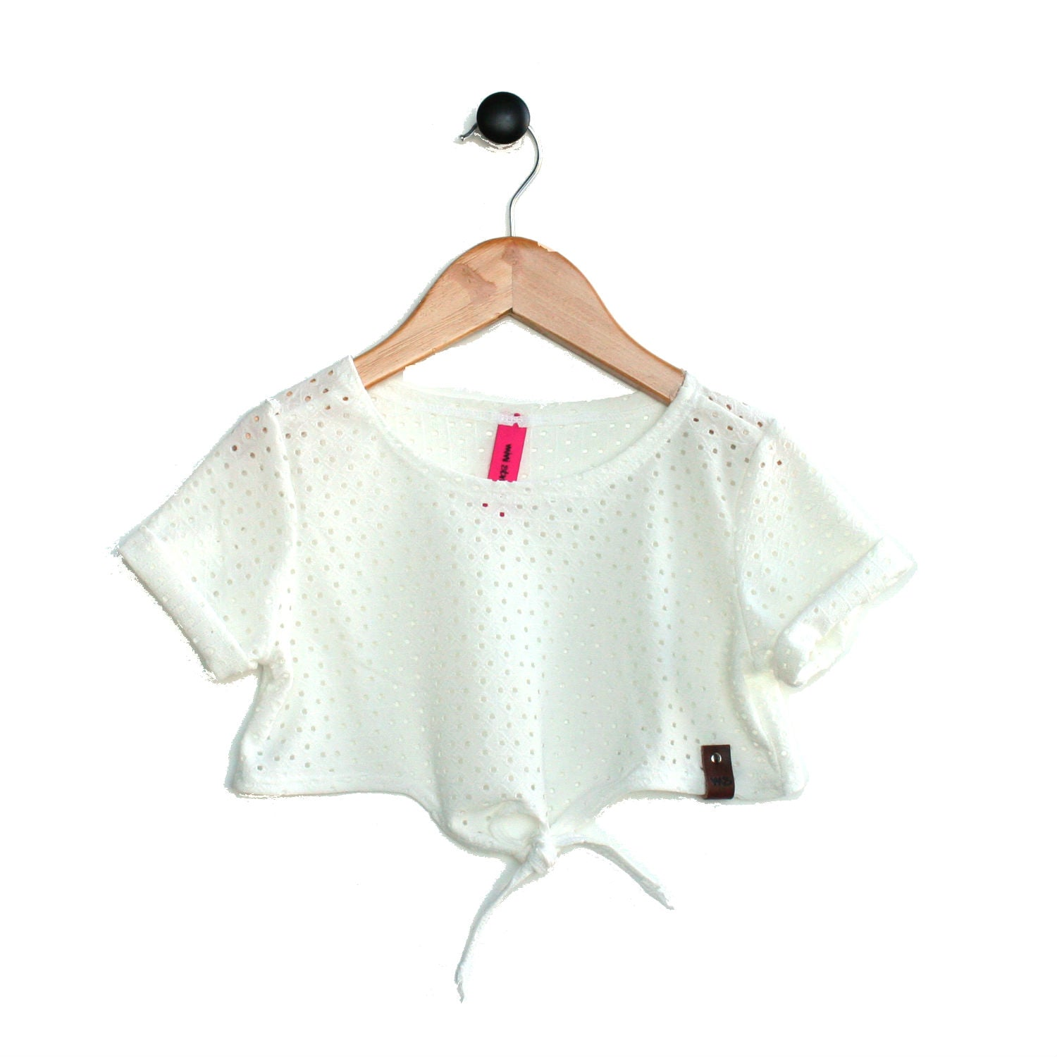 Blake Crop Top - White Peekaboo