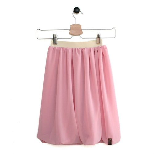 Blush Pink maxi length chiffon flowy skirt for girls by Mini Street