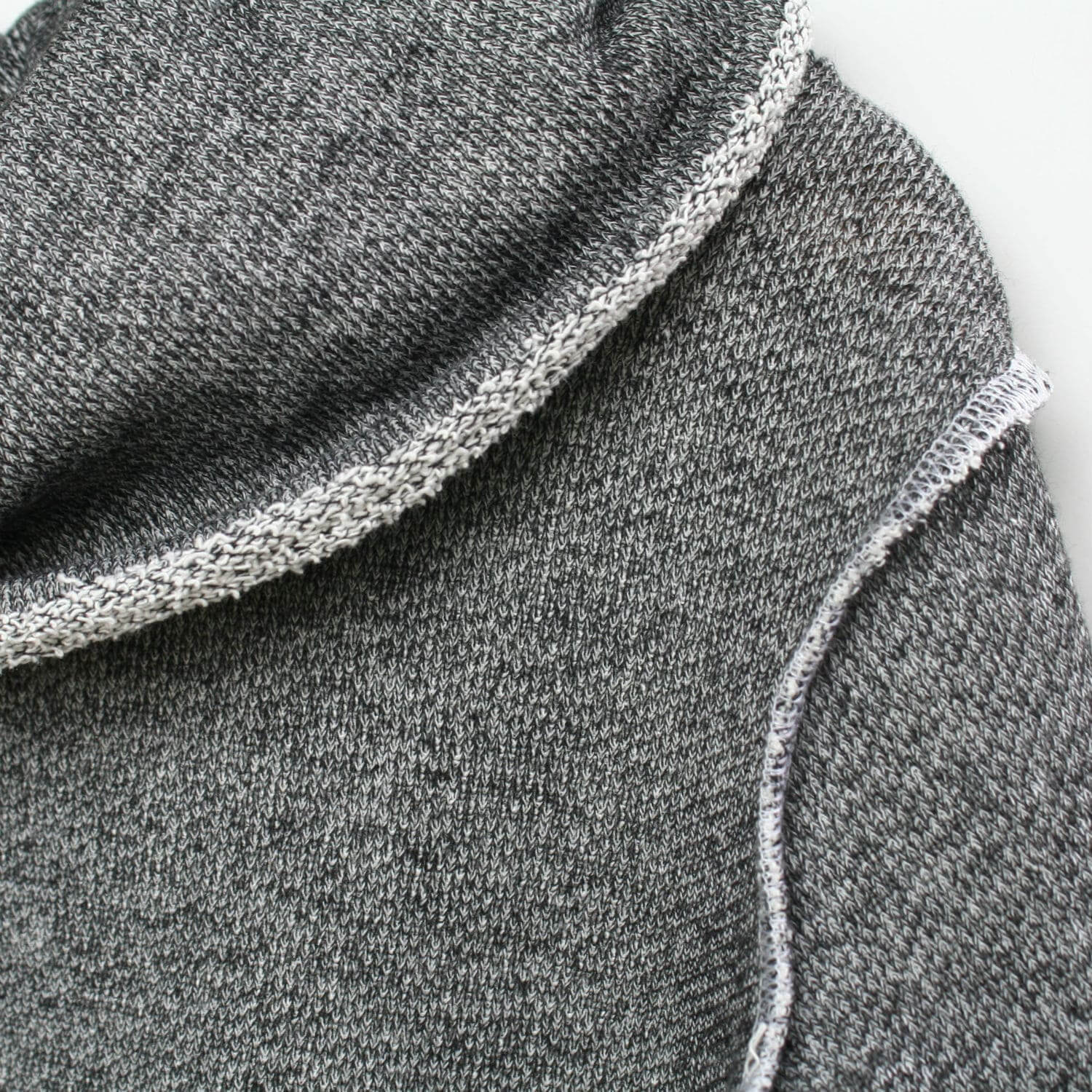 Details of the Jessie Granite Grey Cowl Sweater for kids by Mini Street