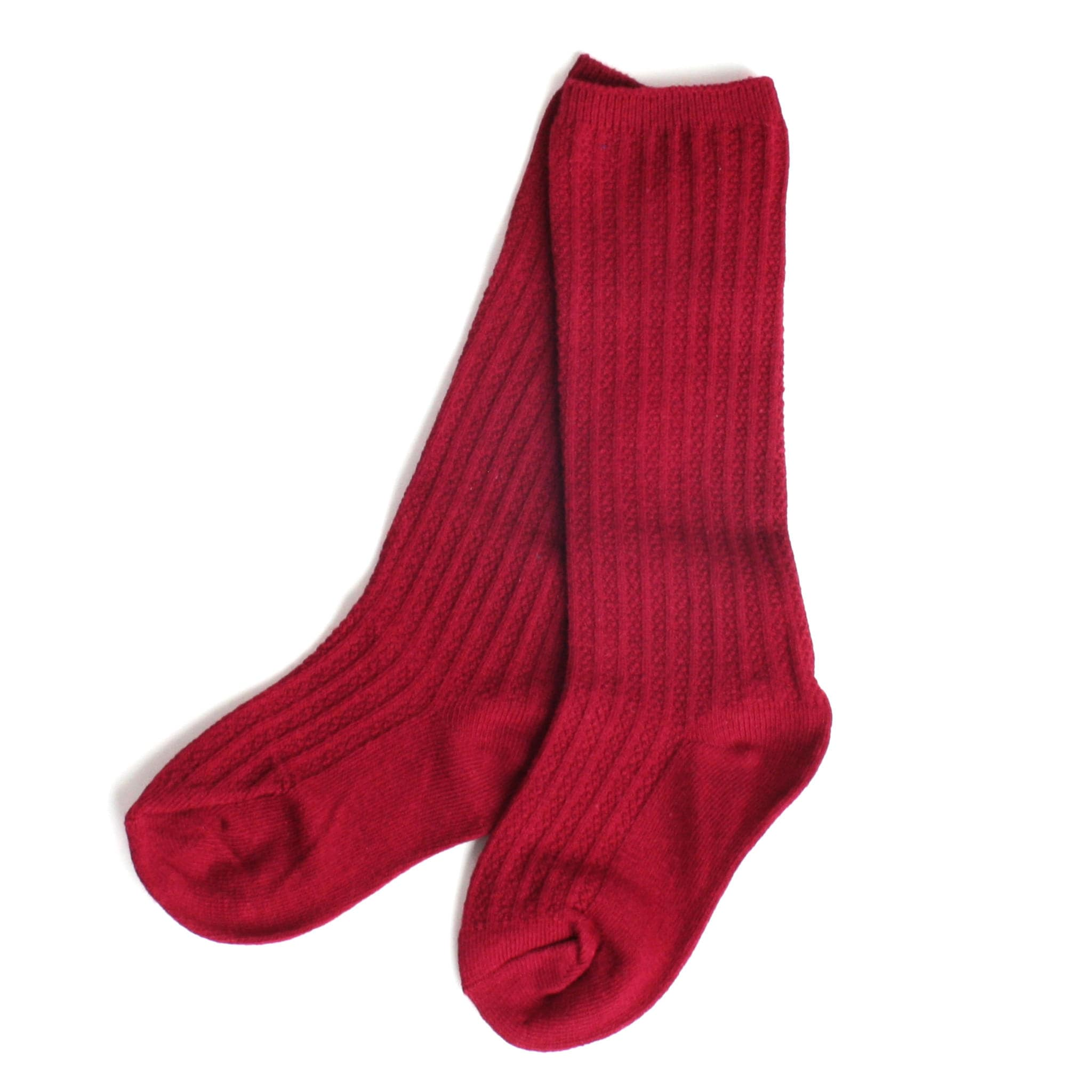 Unisex knees socks in red for kids