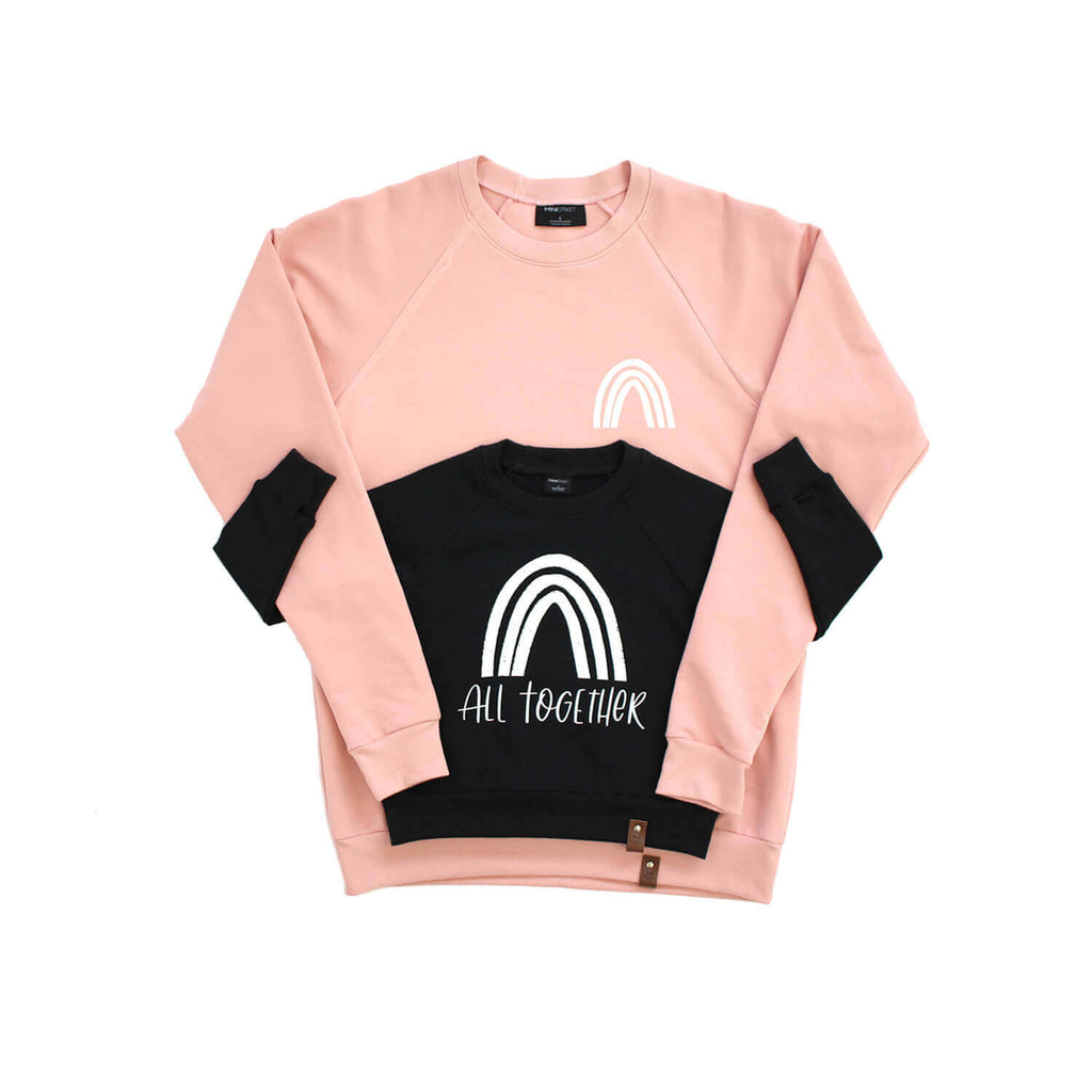Jaxon Crew Sweater - Adult - Rainbow - Pink