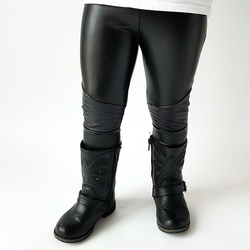 Stevie Moto Leggings - Black Vegan Leather