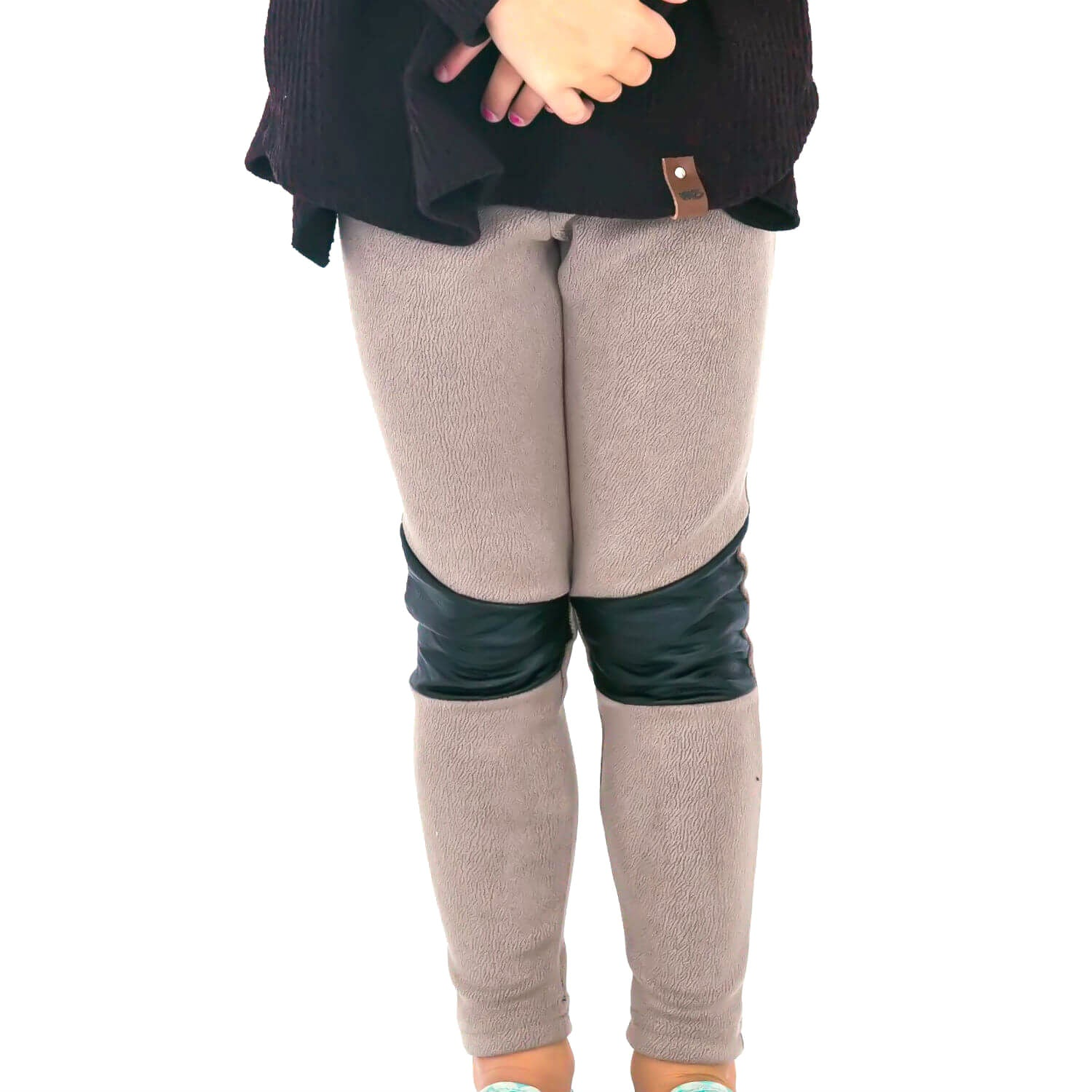 Stevie Moto Leggings - Taupe