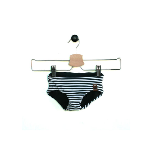 Kali Swim Bottoms - Black Stripe Reversible