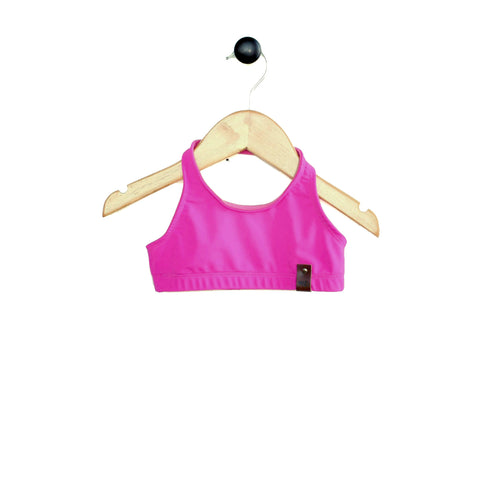 Ava Halter Swim Top - Hot Pink