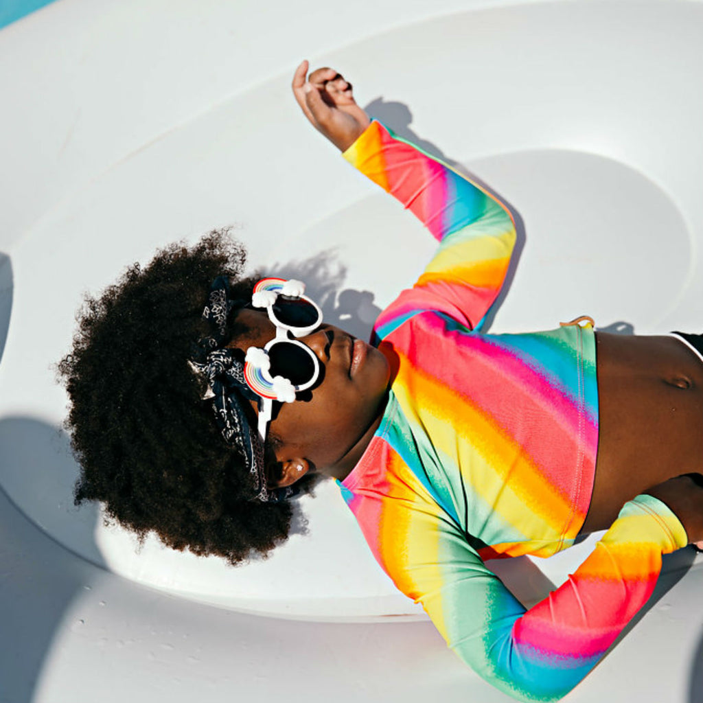 Hadley Rash Swim Top - Rainbow