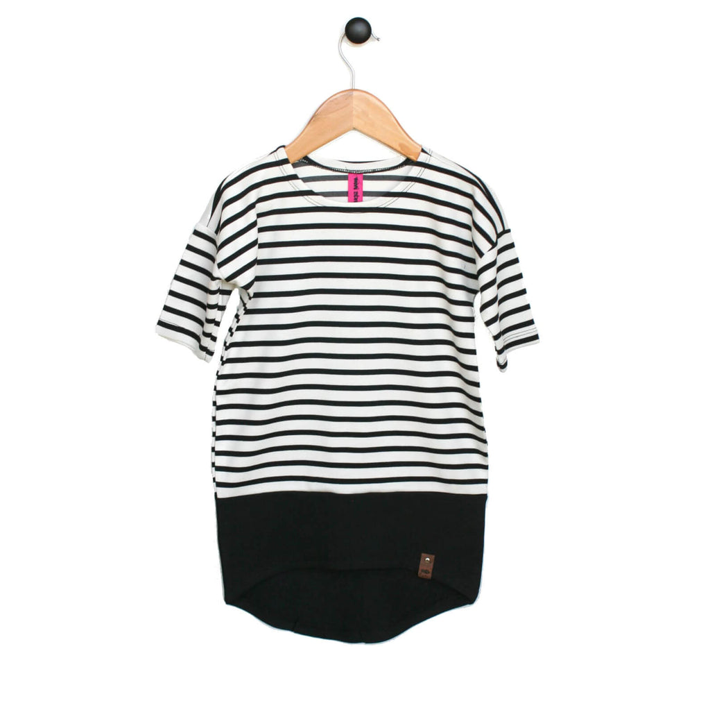 Taylor Dress - White Stripe