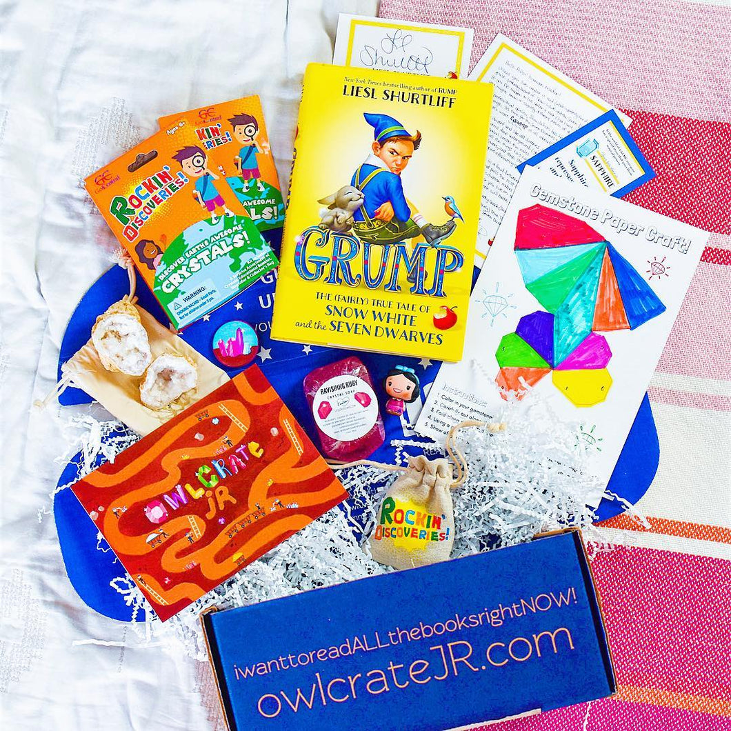 OwlCrate Jr June 2018 'HIDDEN GEMS' Box
