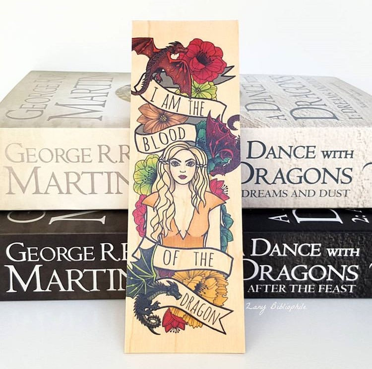 Mother of Dragons Wooden Bookmark