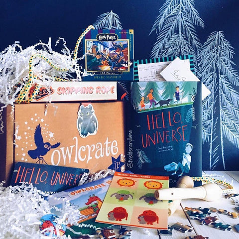 OwlCrate JR March 2017 'UNLIKELY FRIENDS' Box