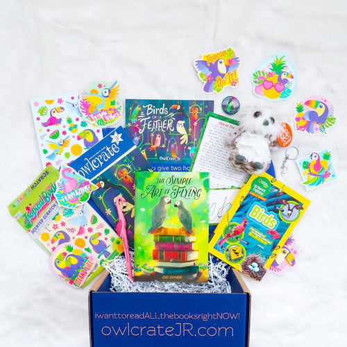OwlCrate Jr March 2019 'BIRDS OF A FEATHER' Box