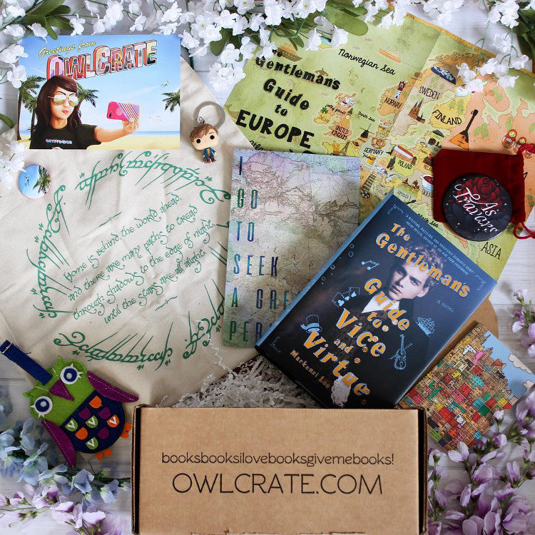 OwlCrate July 2017 'WANDERLUST' Box