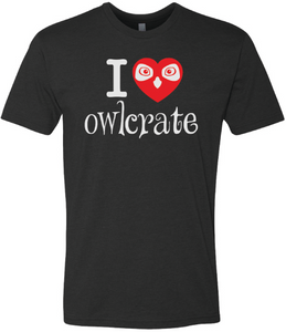 I Love OwlCrate T-shirt - Black