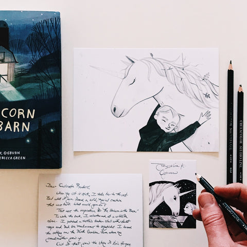 'The Unicorn in the Barn' Art Print